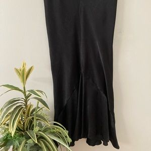 TOPSHOP satin midi skirt, size 12